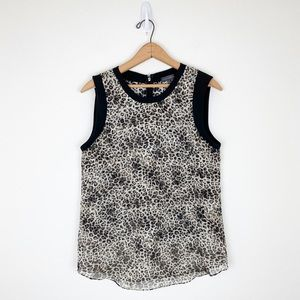 Vince Camuto Leopard Print Silky Tank Top